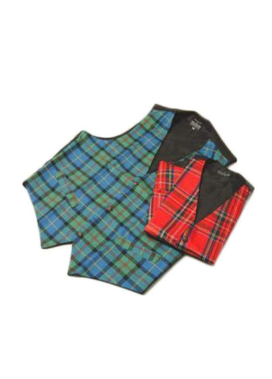 Gents Tailored 100% Wool Tartan Waistcoat