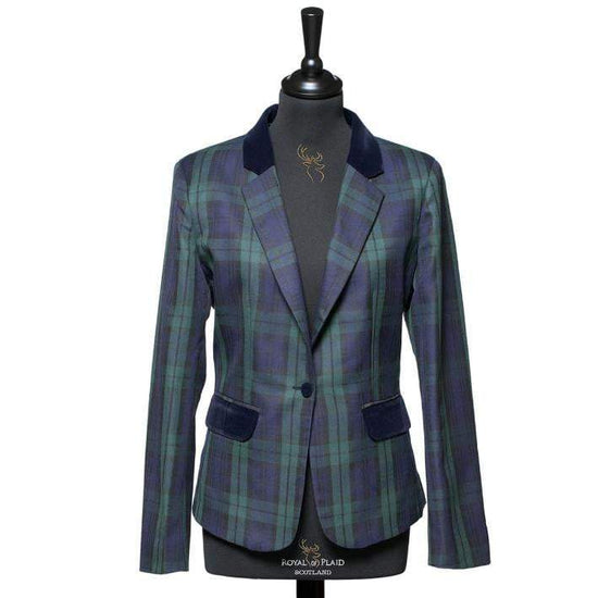 Ladies Tartan Blazer in Black Watch
