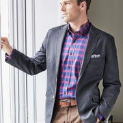 Blakelaw Navy Cotton Washed Jacket by Brook Taverner