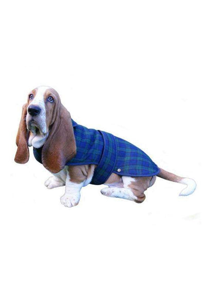 Traditional Deluxe Dog Coat In Black Watch