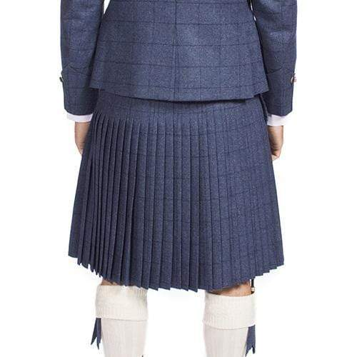Men's 8 Yard 100% Wool 16oz Heavyweight Tweed Kilt, Traditionally Hand Stitched