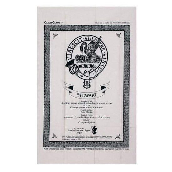 Clan Crested Tea Towel - Made to Order