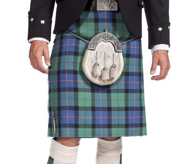 House of Edgar 13oz Tartan, 100% Wool, 8 Yard Kilt, Traditional Scottish Hand Stitched