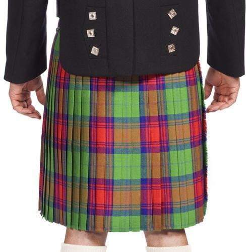 Men's 8 Yard Kilt Old And Rare 100% Wool 13oz Mediumweight Tartan, Traditionally Hand Stitched