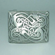 Pewter Zoomorphic Belt Buckle - Polished/Matt Finish