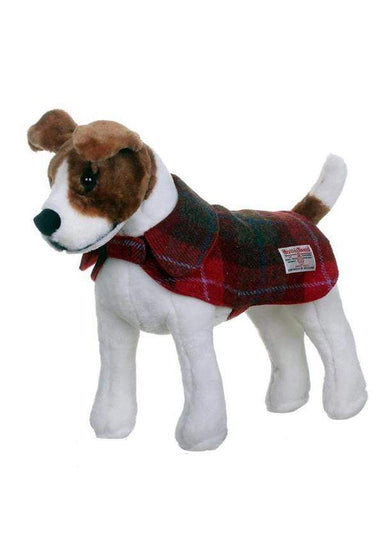 Harris Tweed Dog Coat - Red/Green Check