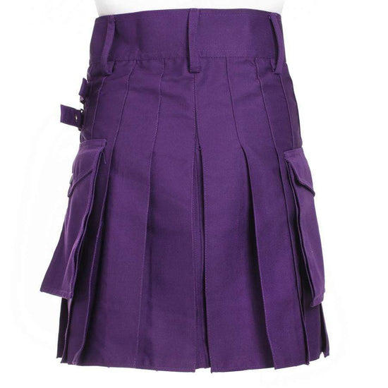 Ladies Purple Utility Kilt