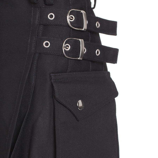 Ladies Black Utility Kilt