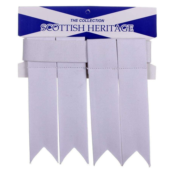 Acrylic Tartan Flashes - Plain White