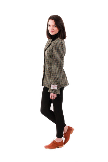 Ladies Harris Tweed Jacket - Maggie - Grey Check
