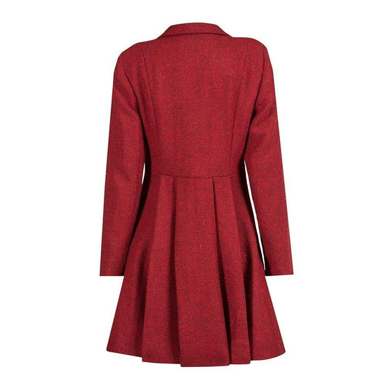 Ladies Harris Tweed Coat - Zoe - Red