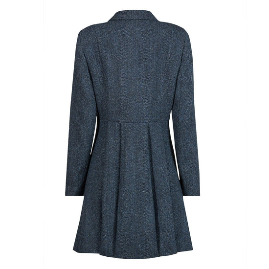 Ladies Harris Tweed Coat- Zoe - Blue