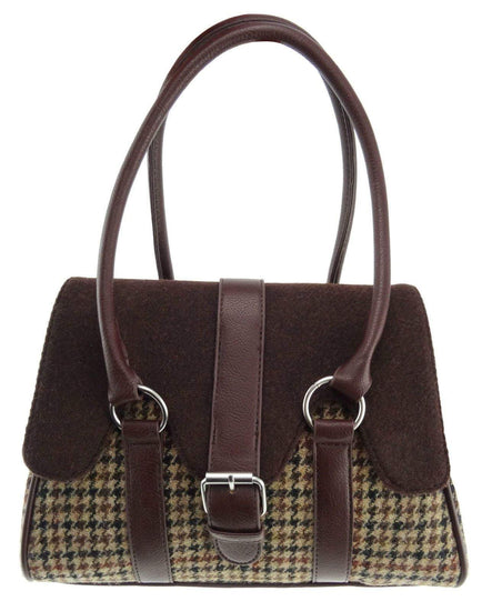 Harris Tweed Medium Orchy Contrast Scallop Bag - 2 Colours