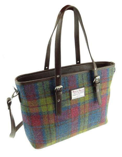 Harris Tweed Large Spey Tote Bag with Shoulder Straps - 14 Colours