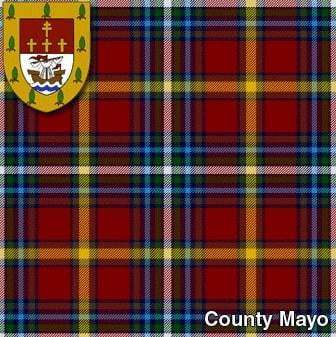 Men's Irish County Crest Tartan Kilt, 5 Yard Mediumweight, Traditionally Hand Stitched
