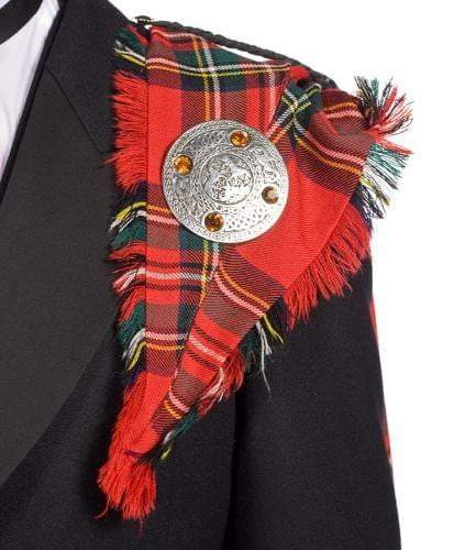 Gents Deluxe 100% Wool Lochcarron Braeriach Mediumweight Fringed Fly Plaid - Made to Order