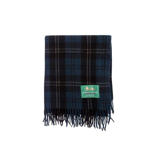 Wool Tartan Knee Rug - Ramsay Blue