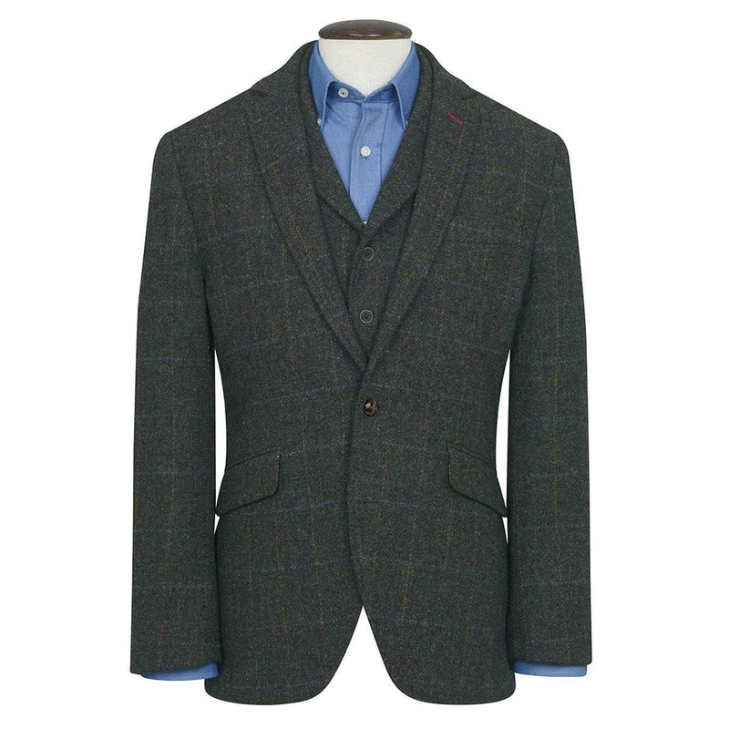 Mens Harris Tweed Wool Jacket - Scarp