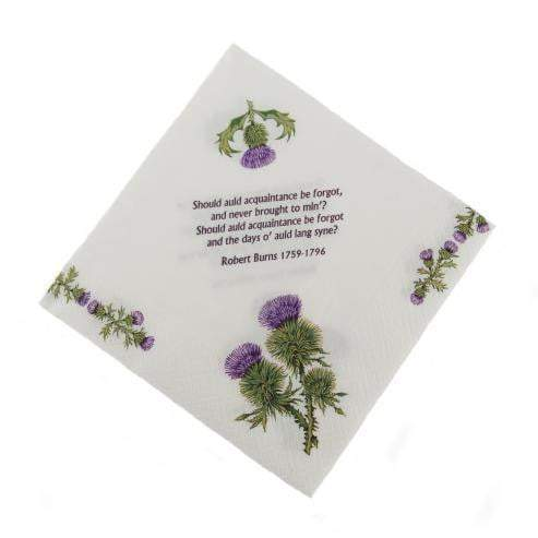 Thistle and Burns Napkins Serviettes (Pack of 20)