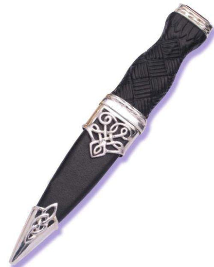 Silver Lomond Sgian Dubh with Stone Hilt