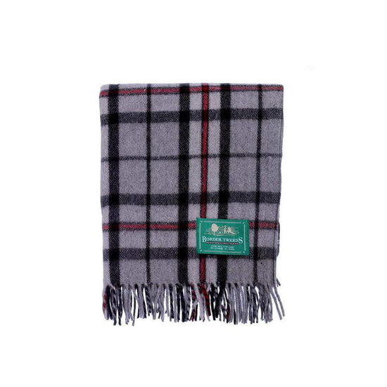 Wool Tartan Knee Rug - Thomson Grey