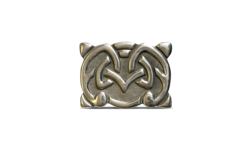 Viking Styled Deluxe Pewter Belt Buckle
