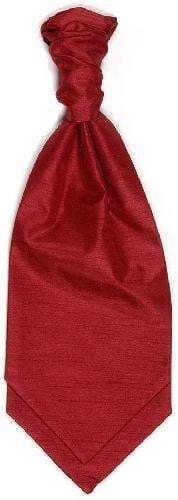 Polyester Shantung Ruche Tie - Wine Red