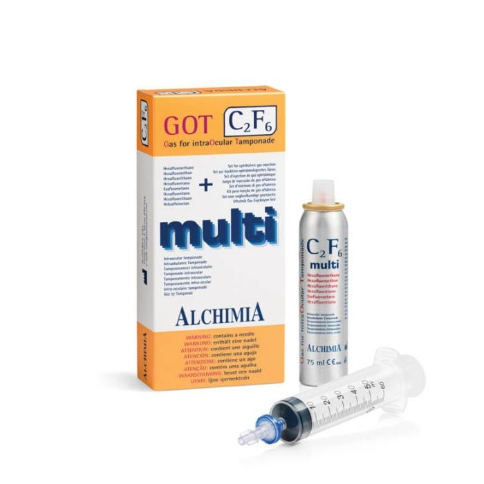 Gas para taponamiento GOT Multi C2F6 cilindro 75 ml