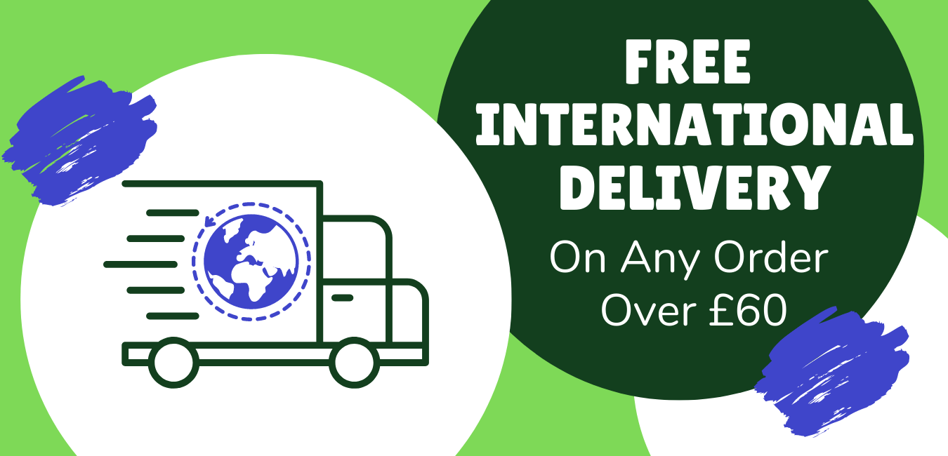 Free International Delivery on orders over £60