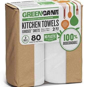 Sugarcane & Bamboo Kitchen Rolls - Eco Earth Market
