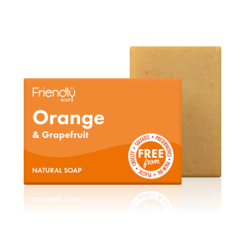 Orange & Grapefruit Soap (95g) - Eco Earth Market