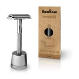 Stainless Steel Double-Edged Safety Razor with Stand - Eco Earth Market