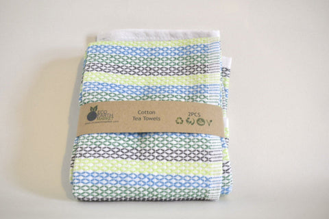 Cotton Tea Towels - 2 Pack - Eco Earth Market
