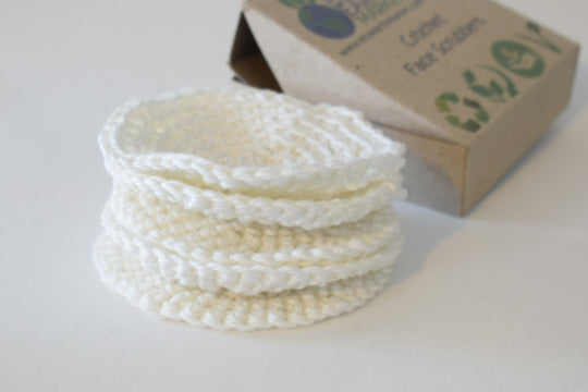 Organic Cotton Crochet Face Scrubbers - Eco Earth Market