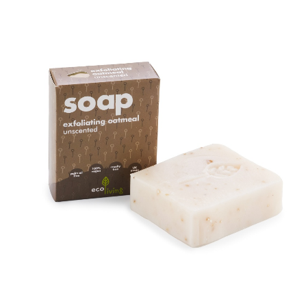 Unscented Exfoliating Oatmeal Handmade Soap (100g) - Eco Earth Market