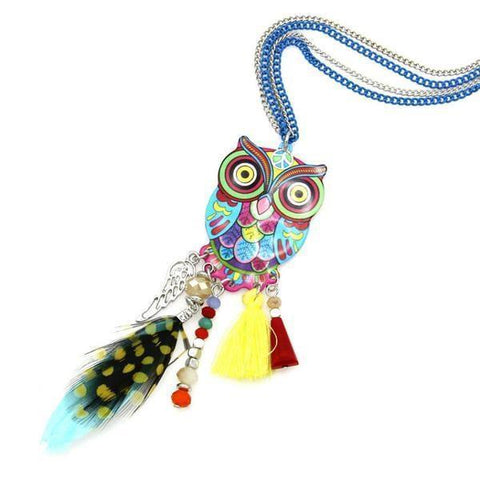 Owl Bohemian Necklace
