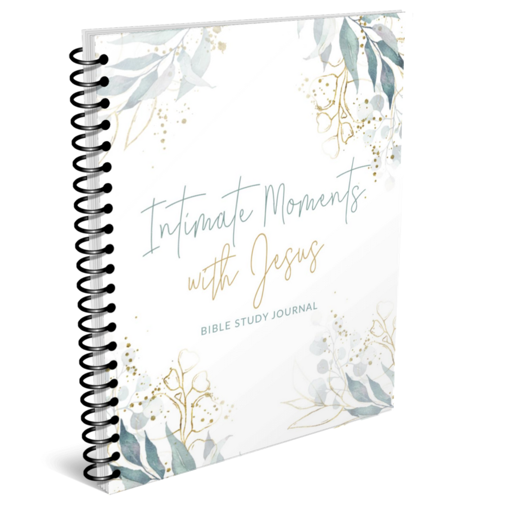 Intimate Moments with Jesus Bible Study journal with no background