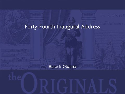Forty-Fourth Inaugural Address | Jekkle Textbooks | Zookal Textbooks