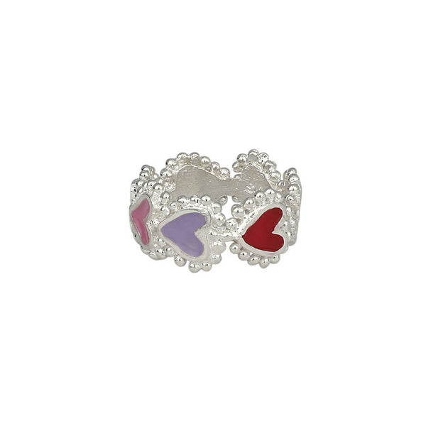 Anillo Beating Hearts Plata