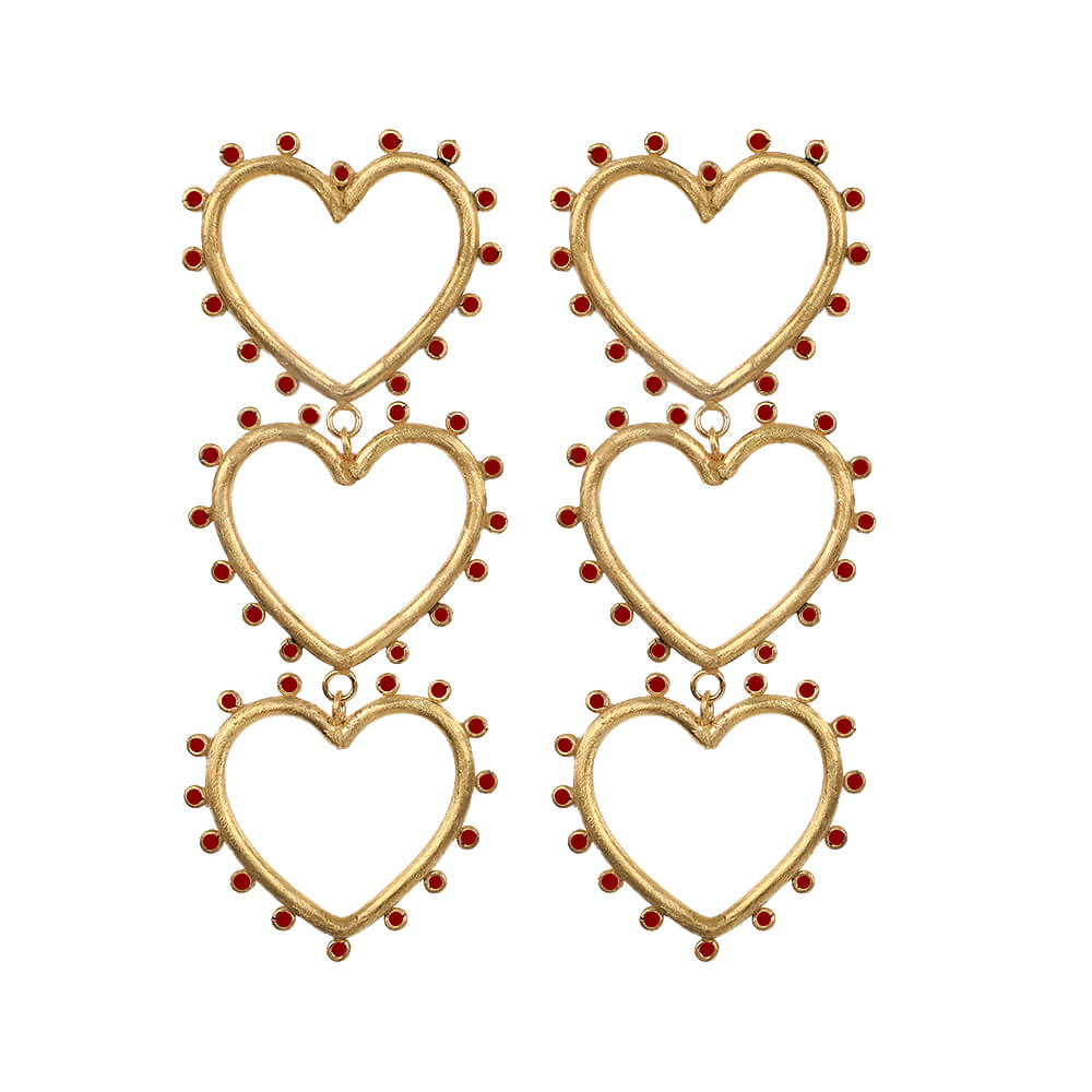 Aretes Wonderland Triple Love