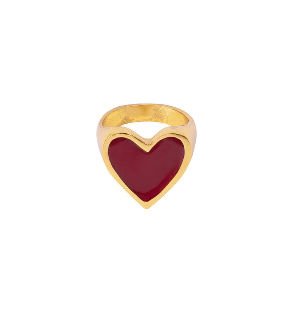 Anillo I Heart You Red