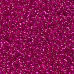 11-1436 Silver Lined Raspberry Transparent 13.5-14 grammes