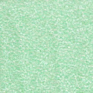 11-271 Light Mint Green Lined Crystal AB 13.5-14 grammes