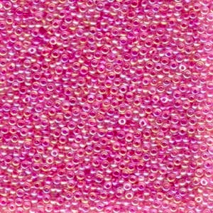 11-355 Fuchsia Lined Crystal AB 13.5-14 grammes