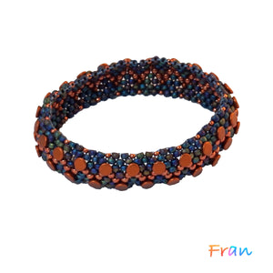 BB Bangle - Rust and Navy