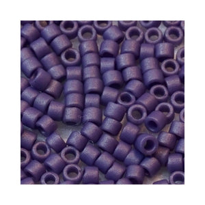 5 grammes of Size 11 Delica DB2293 Frost Opaque Glaze Purple