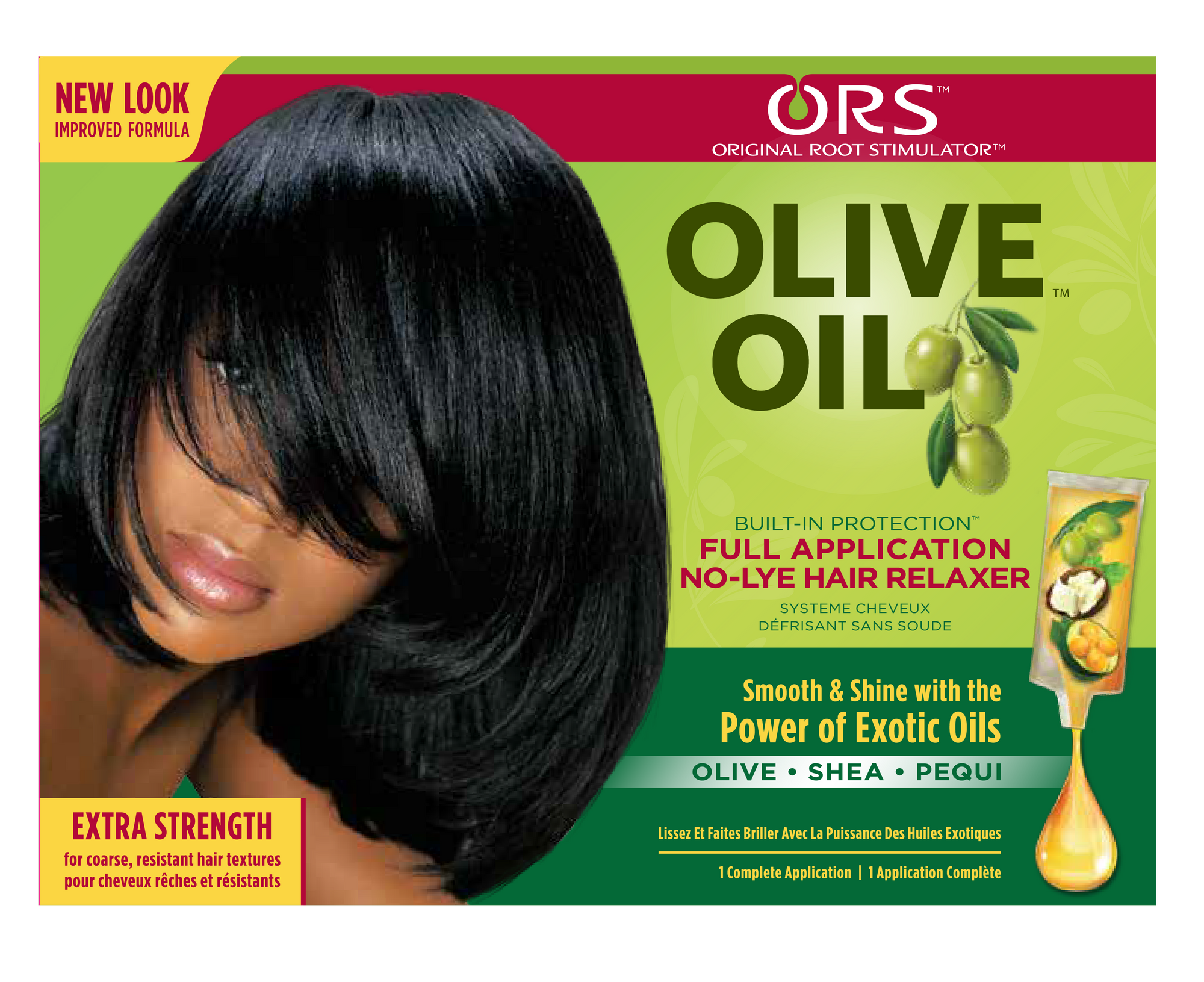 ORS Olive Oil Built in Protection No-Lye Relaxer Extra Strength 1 application