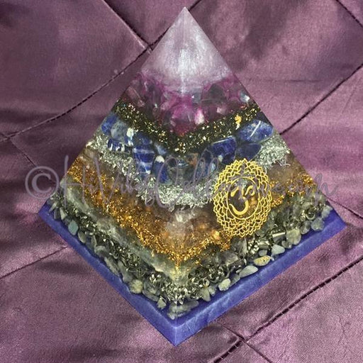 7 Chakra Orgone Pyramid (Set of 7) (PY-10-16-Set)-HiVibes Collective
