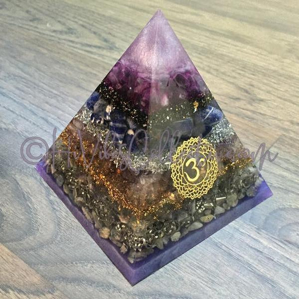 Crown Chakra Orgone Pyramid (PY-0010)-HiVibes Collective