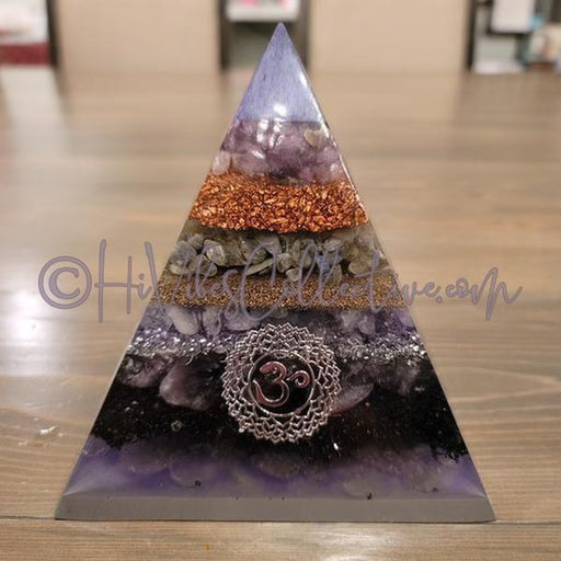 Crown Chakra Orgone Pyramid (PY-0017)-HiVibes Collective